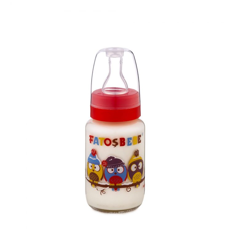 Transparent Teat Feeding Glass Bottle 125 ml