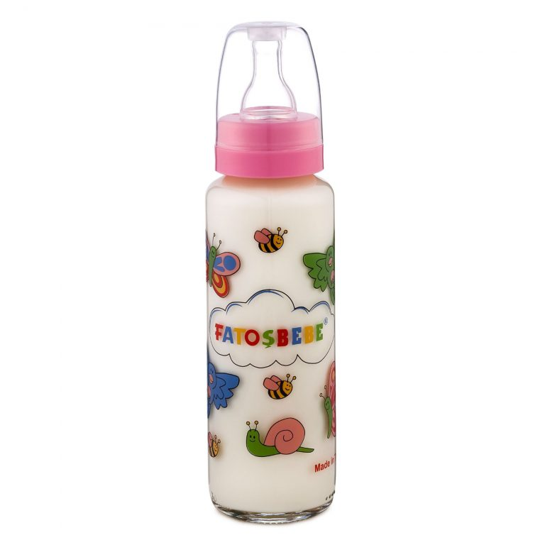 Transparent Teat Feeding Glass Bottle 250 ml